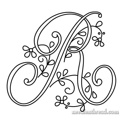 how to draw monogram letters