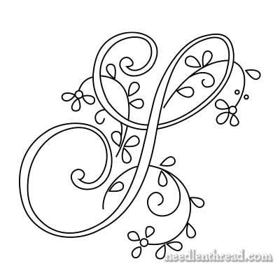 Monogram for Hand Embroidery: S