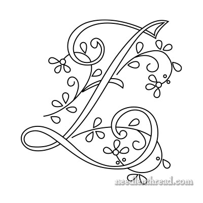Monogram for Hand Embroidery: Z
