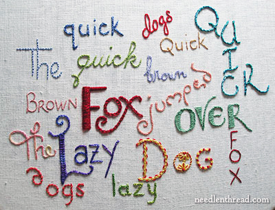 Hand Embroidered Lettering and Text Tutorials