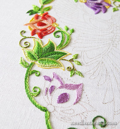 Secret Garden Embroidery - the Flowers