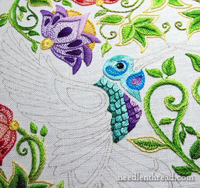 Secret Garden Embroidery Hummingbird