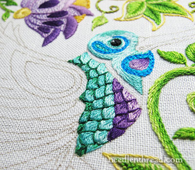 Secret Garden Embroidery Hummingbird