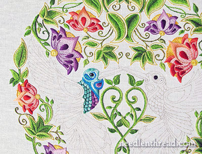 Secret Garden Embroidery Project - Hummingbird - Textured Stitch