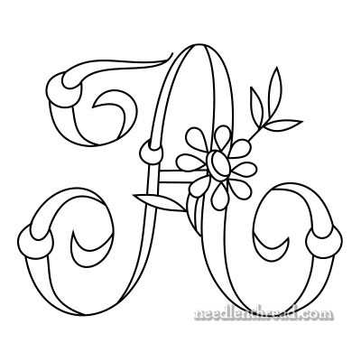 Free Monogram for Hand Embroidery: A