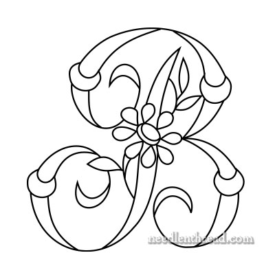 Free Monogram for Hand Embroidery: B