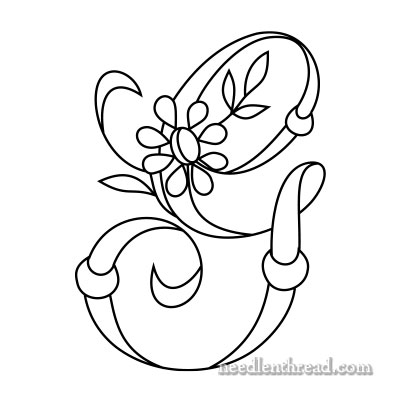 Monogram for Hand Embroidery: G