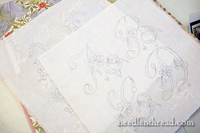Monogram Samples on Linen