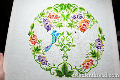 Secret Garden Embroidery: Hummingbird Colors