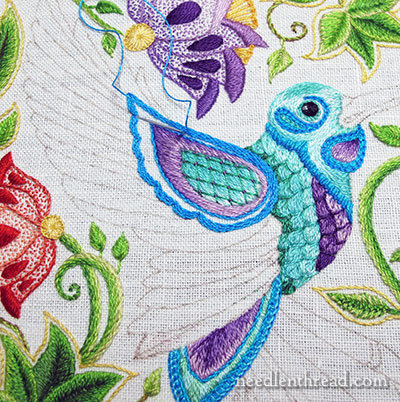 Secret Garden Embroidery: Hummingbird