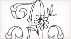 Monograms for Hand Embroidery - Daisy & Rings