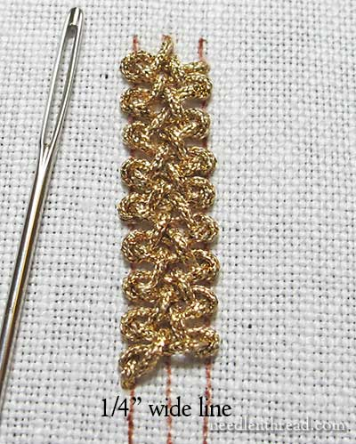 Spanish Knotted Feather Stitch