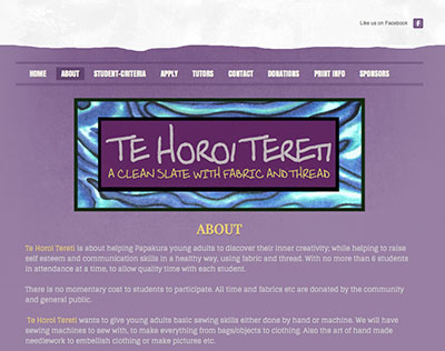 Te Horoi Tereti sewing center for youth