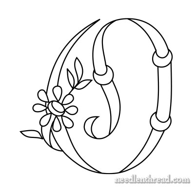 Free Monograms for Hand Embroidery: O