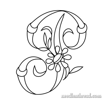 Free Monograms for Hand Embroidery: P