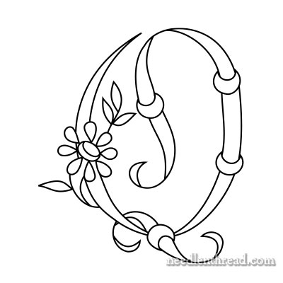 Free Monograms for Hand Embroidery: Q