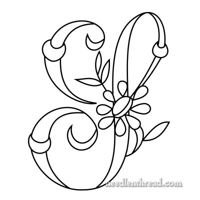 Monogram for Hand Embroidery - the Letter S