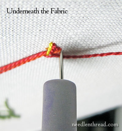 Using an Eraser with Embroidery