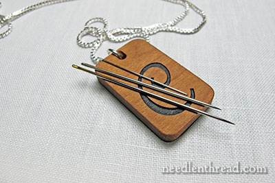 Monogrammed Needle Keeper in Wood