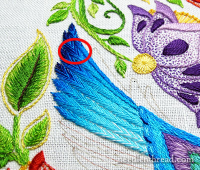 Secret Garden Hummingbirds: Embroidered Feathers