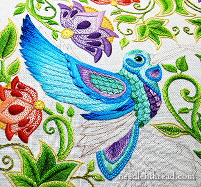 Secret Garden Embroidery: Hummingbird Wing