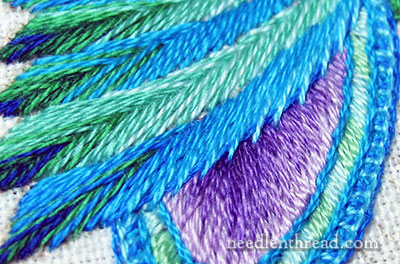 Secret Garden Embroidery - Stitching Feathers