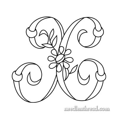 W Monogram for Hand Embroidery