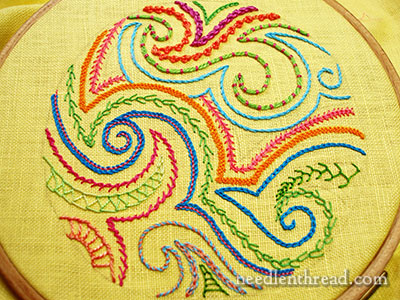 Doodle Cloth for Hand Embroidery