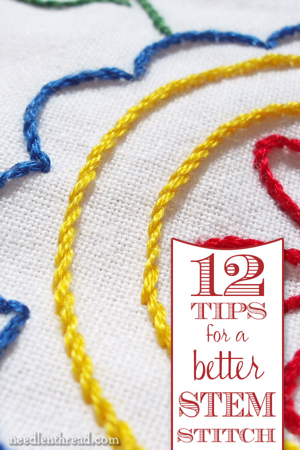 How to Make a Better Stem Stitch