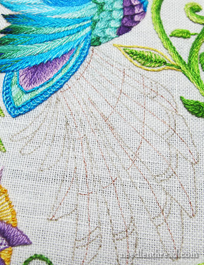 Hand Embroidery Project: Hummingbirds