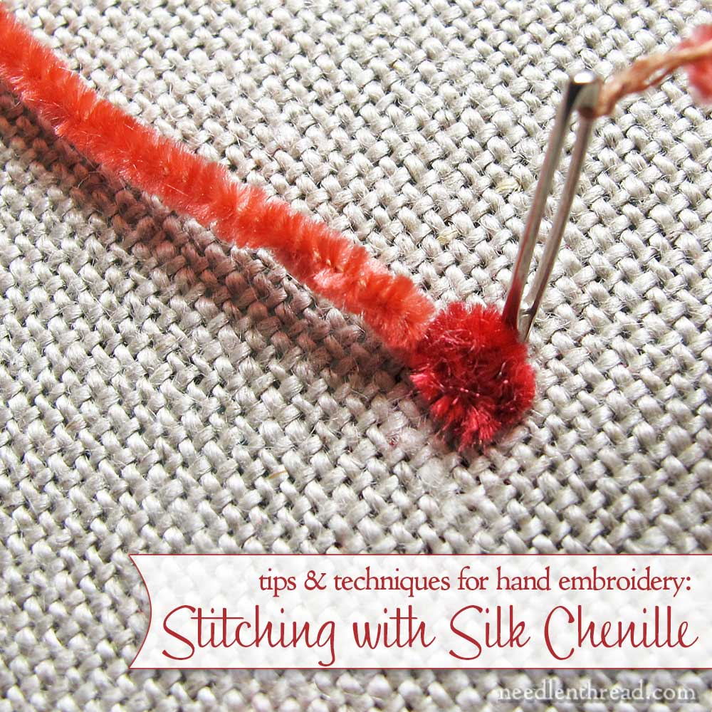 Silk Chenille for hand embroidery