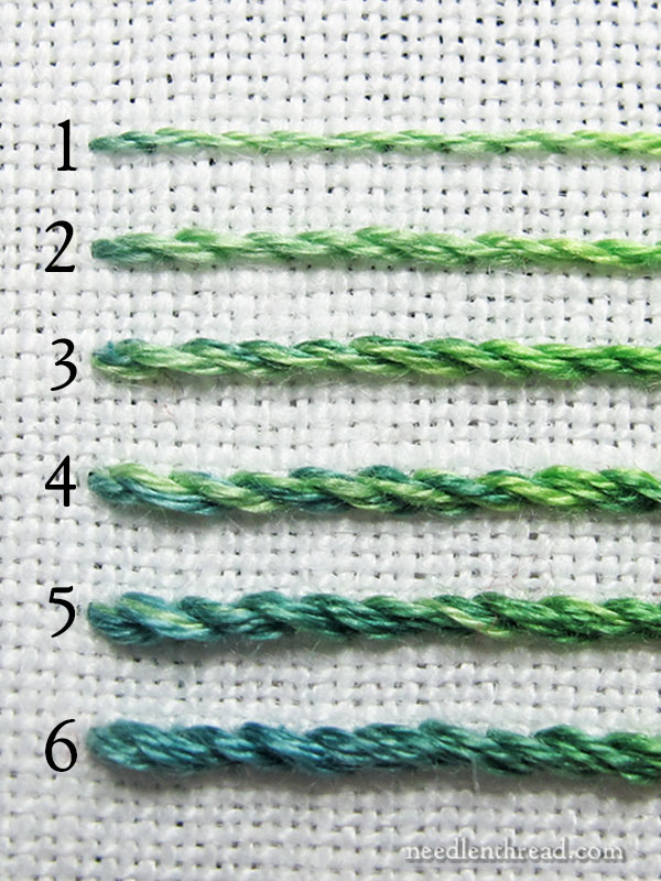 Stranded Embroidery Floss - How Many Strands Should I Use?