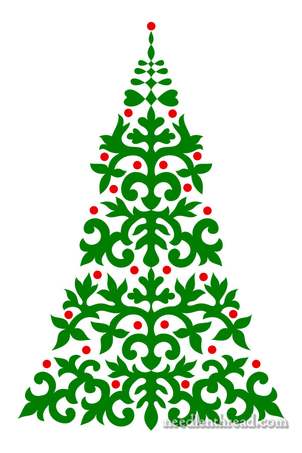 Christmas Tree Pattern.Embroider A Christmas Tree Needlenthread Com