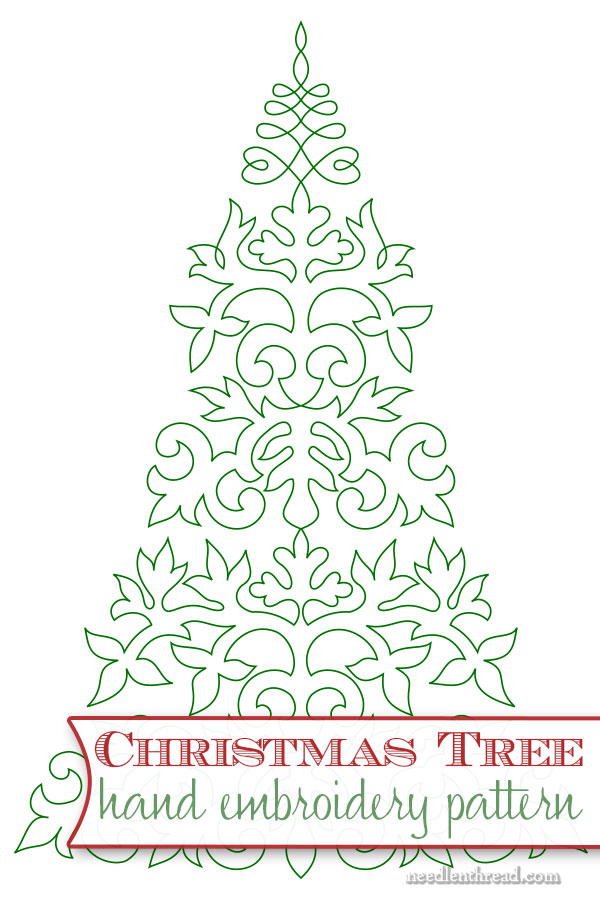 Embroider a Christmas Tree!