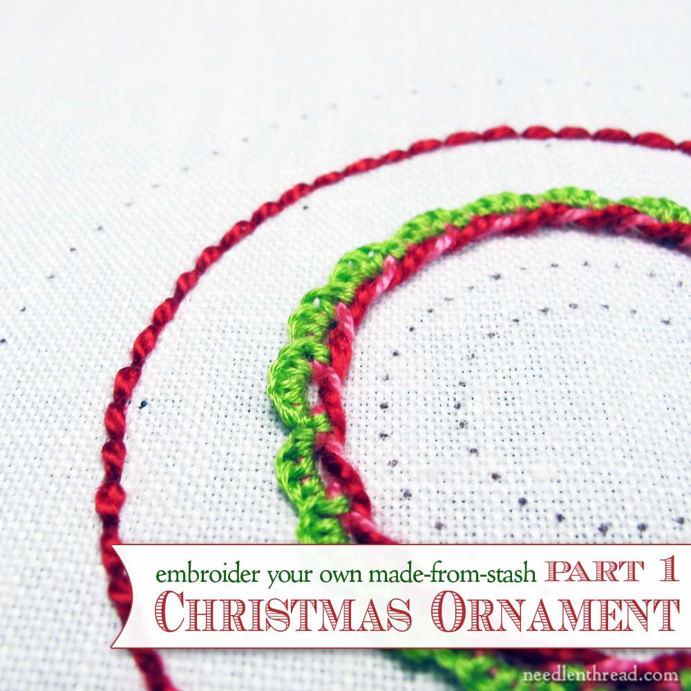 How to Embroider a Christmas Ornament