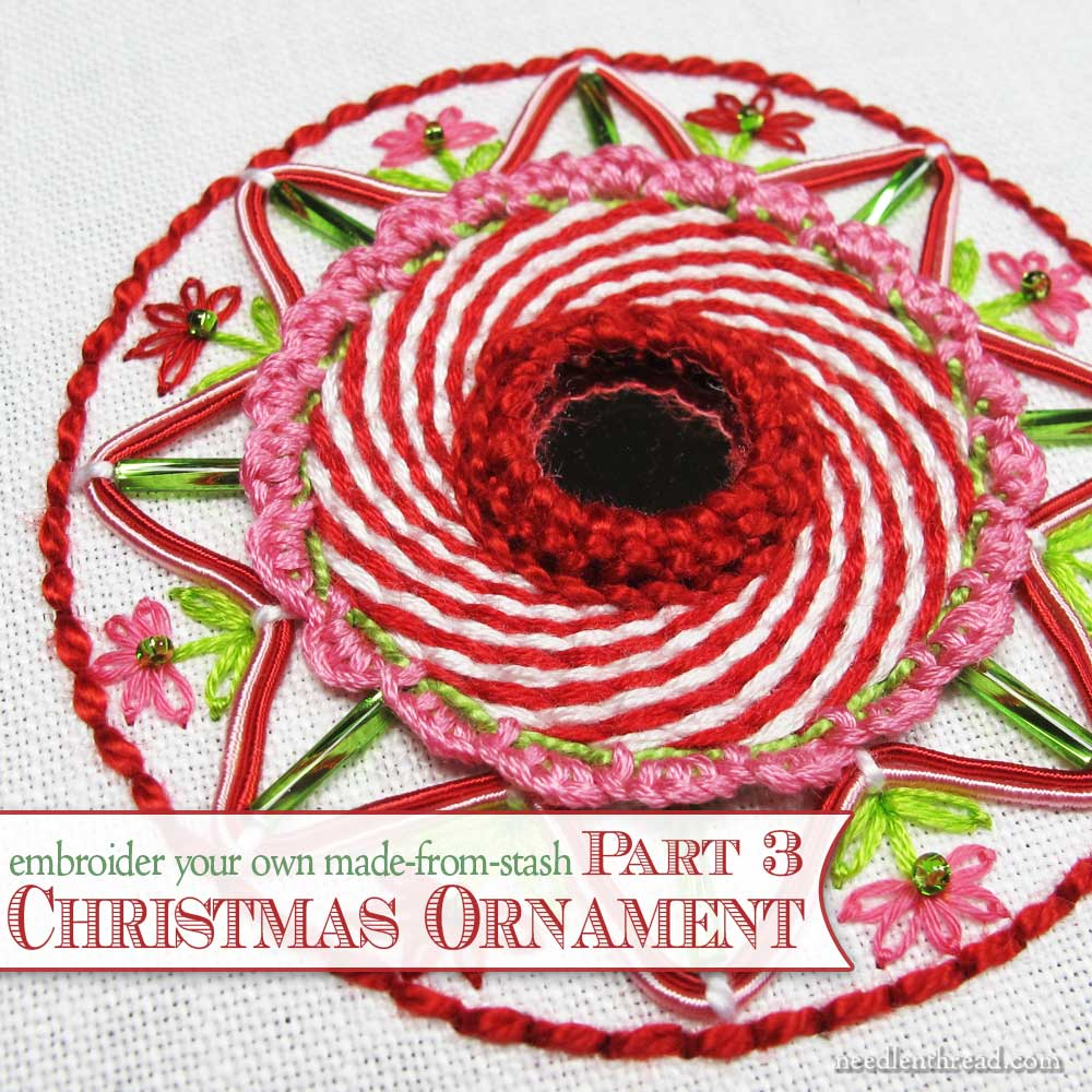 Embroidered christmas ornaments - Hand Embroidered Christmas Ornament