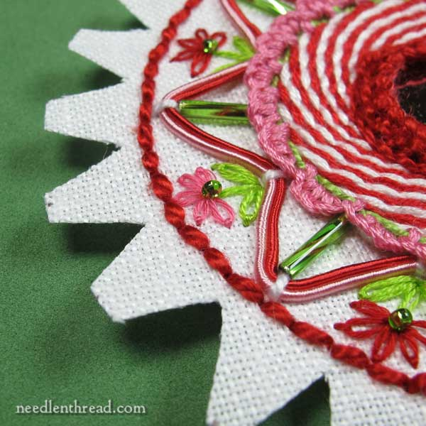 How to Assemble a Hand Embroidered Christmas Ornament