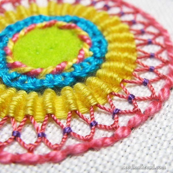 Fiesta Fob: Hand Embroidery with Texture & Dimension