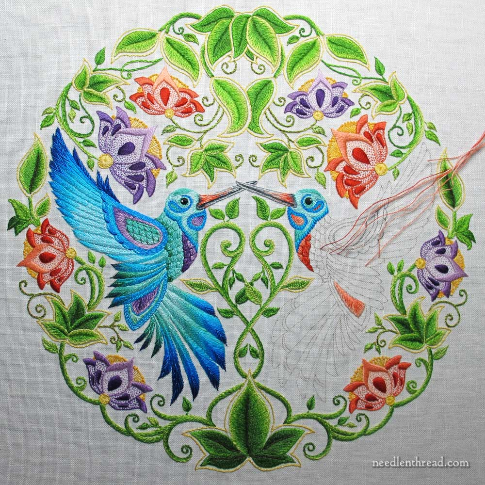 Embroidered Hummingbirds