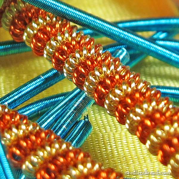Spiral Twisted Metal Embroidery Thread