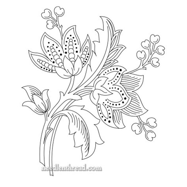 Free hand embroidery pattern: Fair Verona