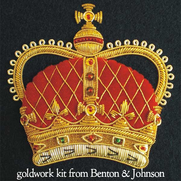 Goldwork Embroidery Crown Kit from Benton & Johnson