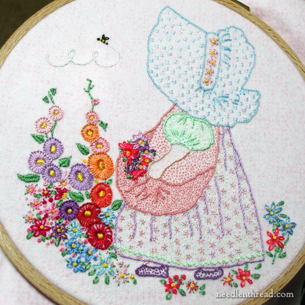 Sunbonnet Sue Embroidery on Flannel