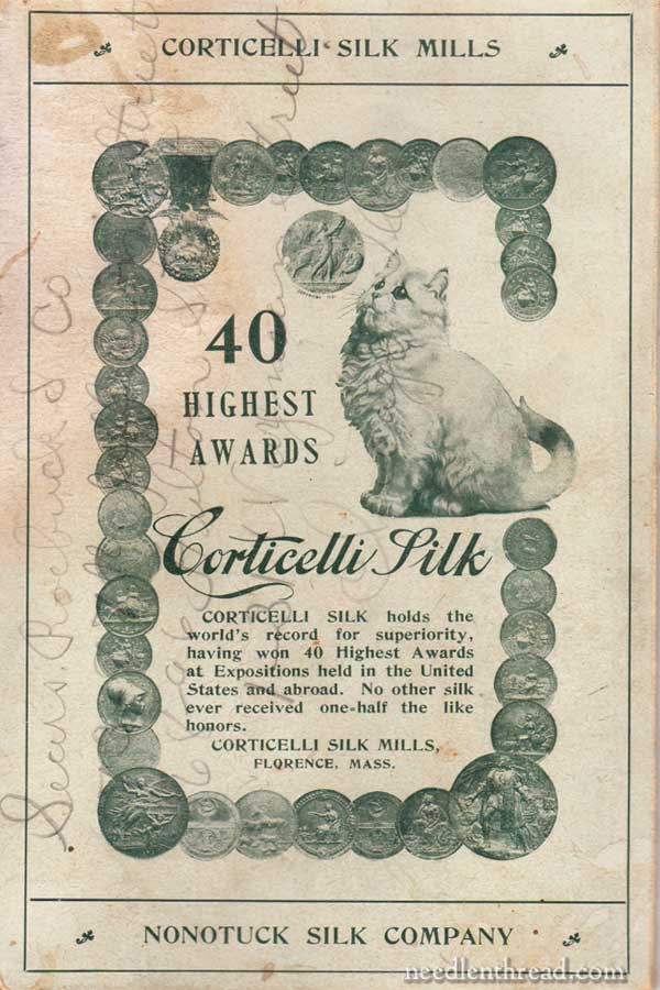 Corticelli Thread Company Thread Card