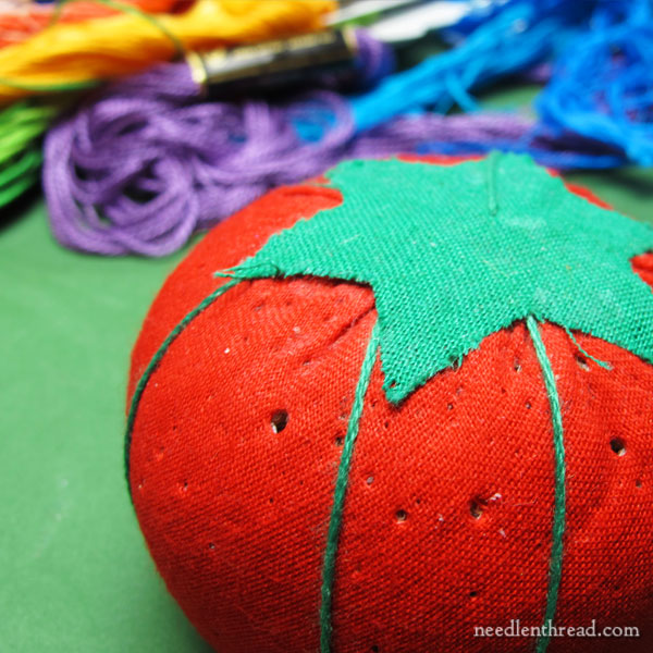 Embroidered Needles in a Pincushion