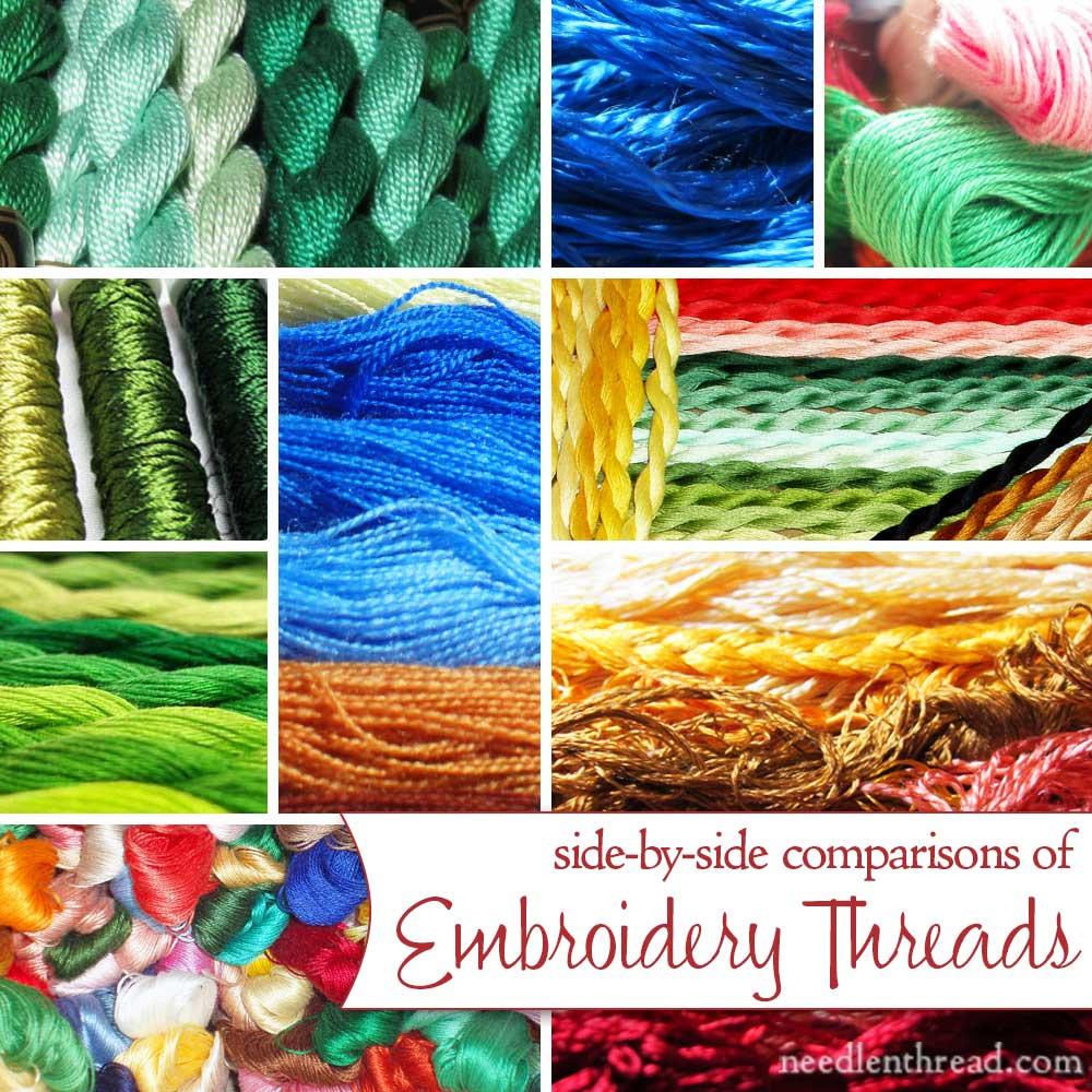 Comparisons of Hand Embroidery Threads