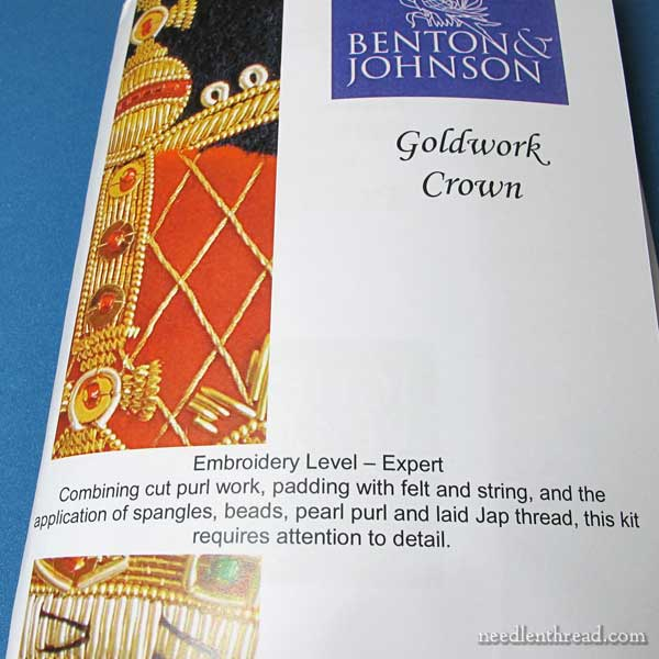 Benton & Johnson goldwork embroidery kits