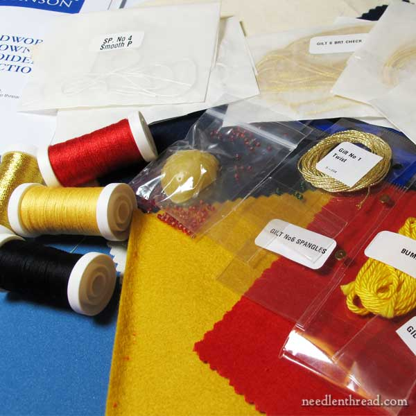 Benton & Johnson goldwork embroidery kits