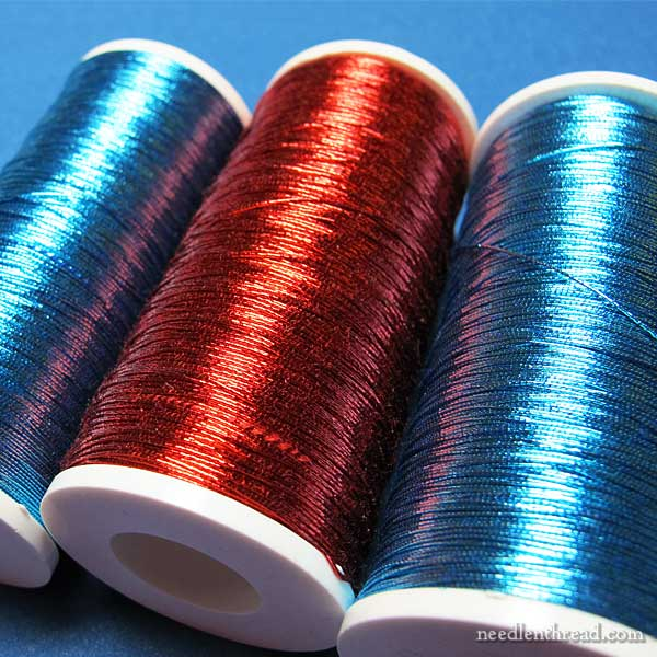 Benton & Johnson colored metal threads for embroidery