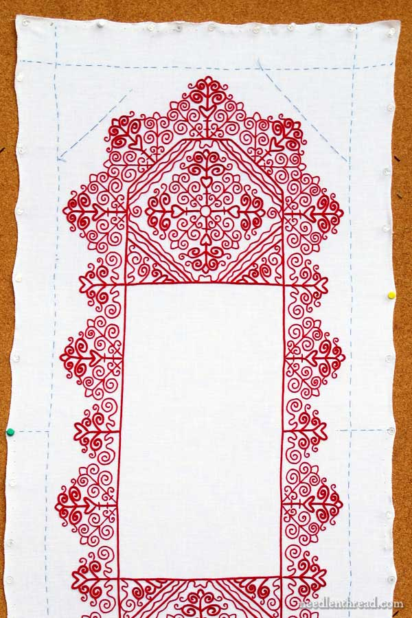 Redwork Runner Embroidery Project